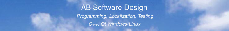 AB Software Design - Programming, Localization, Testing